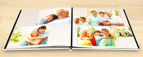 Create a personalized photo book with custom hard cover and quality lay flat pages
