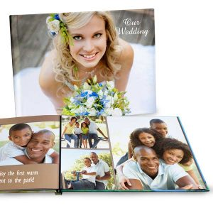 Create your own coffee table picture book to display pictures in your home and start a conversation with guests