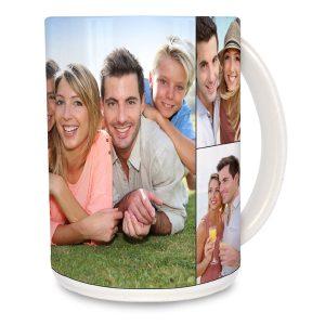 Perfect for any coffee or tea fan, create a large 15oz photo collage mug