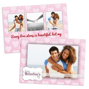 Create a custom greeting for Valentines day, personalized both front and back of your card