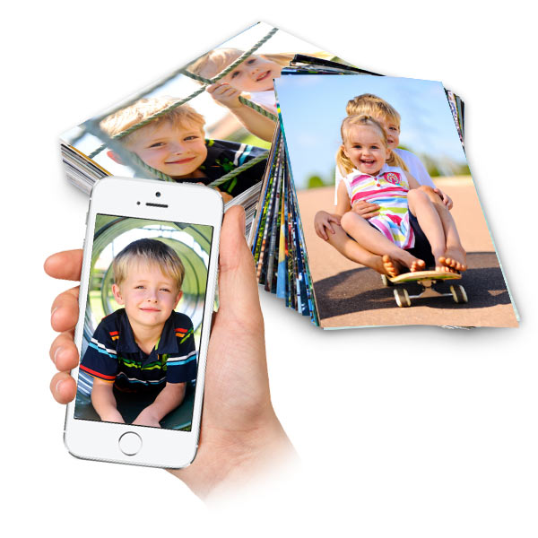 Choose from a variety of sizes and print your photos from your phone or online.