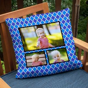 Create a photo collage pillow using your favorite colors or patterns