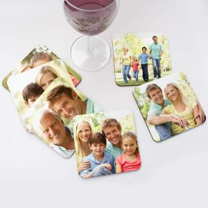 Create a custom set of photo coasters for your home