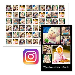 Print your instagram photos with Print Shop Instagram posters you can add up to 75 photos to your poster