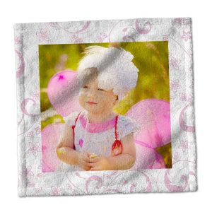 Create your own washcloth to match your room perfectly, add photos or your own pattern to help you design your custom washcloth