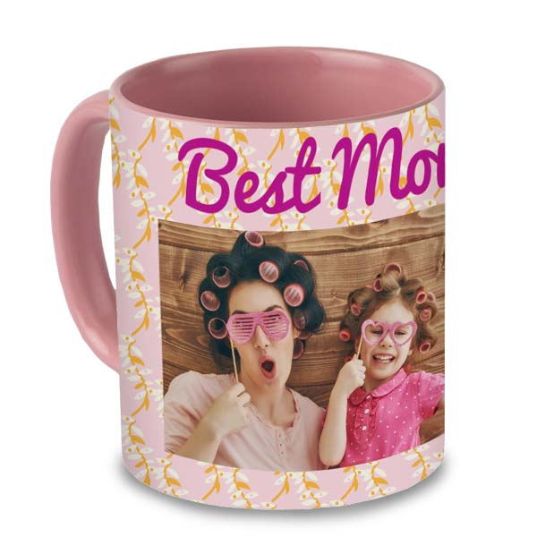 Pink Color Acent Mug 11oz