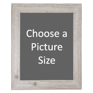 Rustic White Framed Print