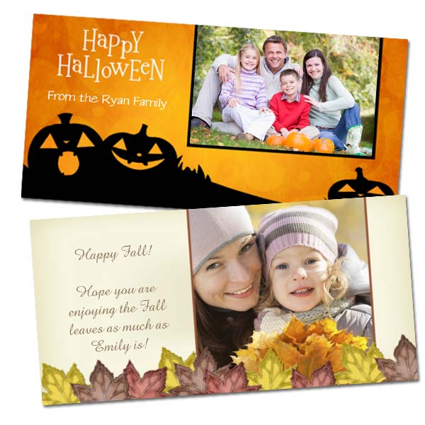 Create holiday photo cards with RitzPix classic 4x8 greeting cards