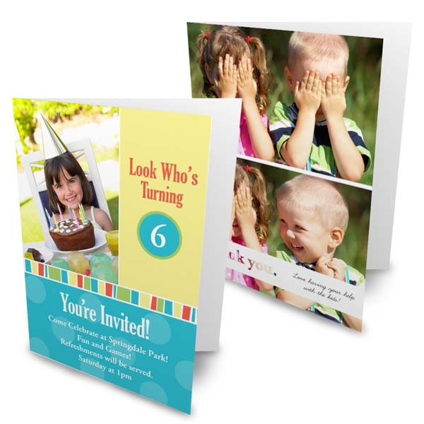 Create your own cute, professionally printed 5x7 photo cards folded with RitzPix Christmas Cards