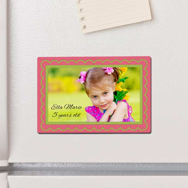 Add color and fun to your life with a custom photo magnet for your kitchen or office