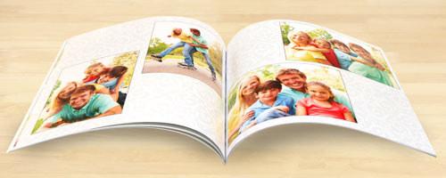 Professional Print Press soft cover photo books bound and ready for your album collection