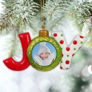 Turn your picture into an ornament you can use each holiday season with a Christmas Joy Photo Ornament