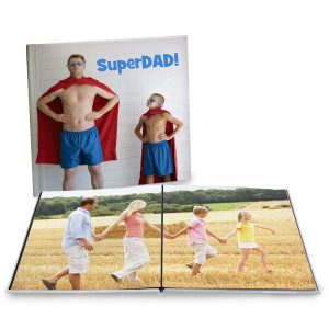 Large 12x12 photo books featuring lay flat pages are perfect for any gift