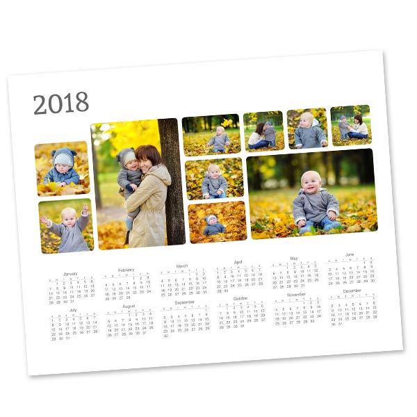 Create a personalized 8x10 photo calendar