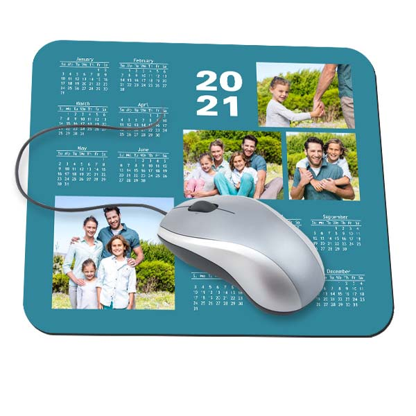 Personalize your own calendar mouse pad with a favorite photo to brighten your day at the office.