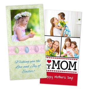 Create a custom card with RitzPix Mothers day and Easter Cards
