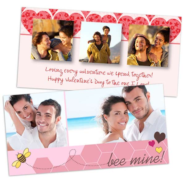 Use your photos to express a moment of joy with Photo Valentines Day Cards