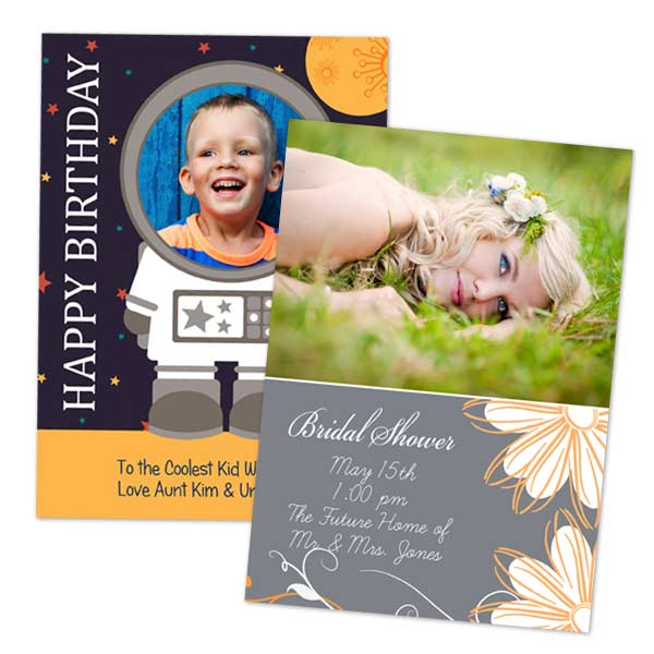 Create custom cards for any occasion with glossy 5x7 cards from RitzPix