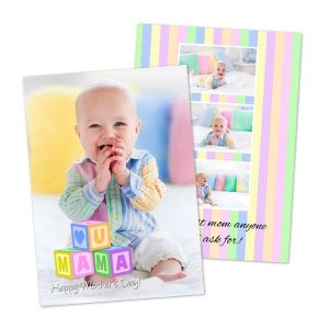 Create a custom photo card for Mothers day with RitzPix double sided 5x7 stock cards