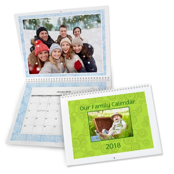 Create the best gift that can be used all year round with a personalized wall calendar for 2018