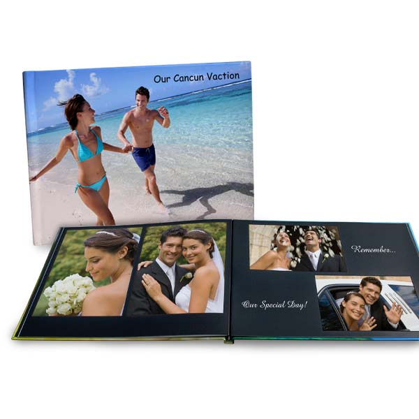 Create a custom 8x11 photo book with beautiful lay flat pages