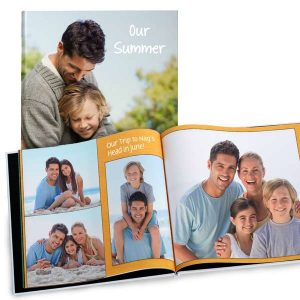 Glossy photo hard cover 8x8 photo book