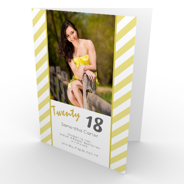 Create a beautiful announcement for your Graduate with RitzPix Folding Graduation Cards