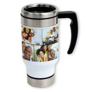 Create your own photo travel mug to keep you company on your morning commute