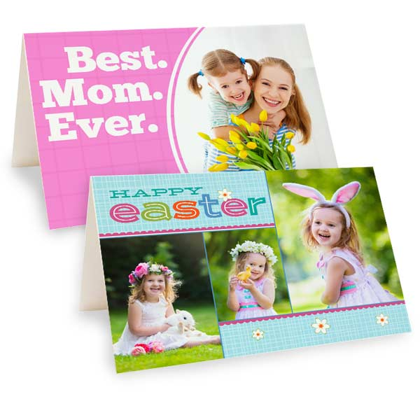 Design your own RitzPix photo card for Mother's day or Easter