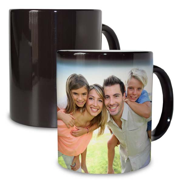 Create a photo mug that changes color revealing your photos when hot water is added