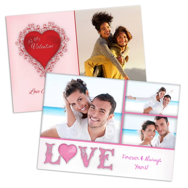 Create a custom photo card your partner will love for Valentines Day