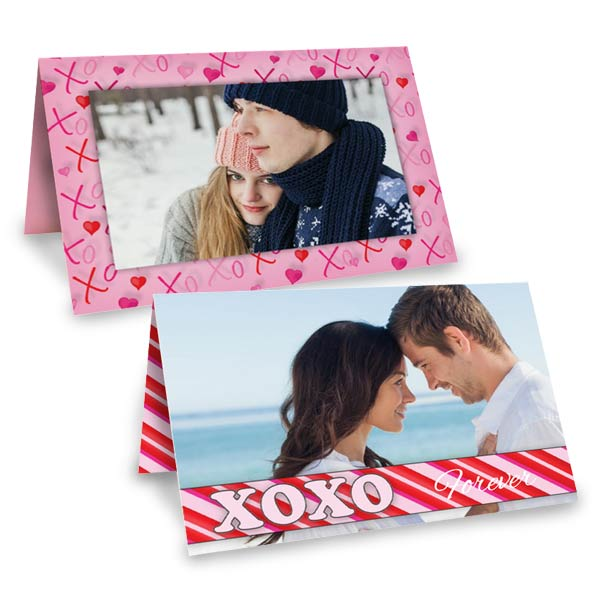 Customize your own folding card for valentines day with Ritzpix