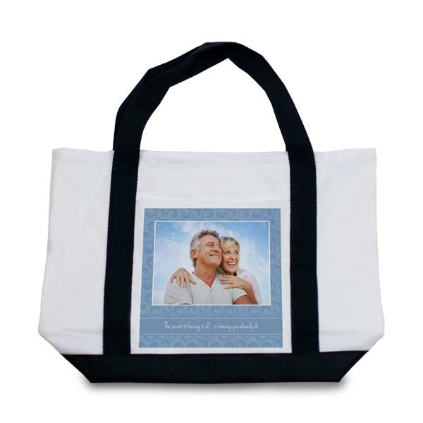 Create a Custom Tote bag for your trip to the beach or use it as a baby bag