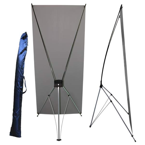 Collapsible stand up banner is great for your event or sale, and includes a case for easy storage of your stand