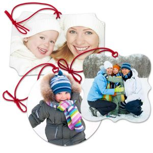 Our canvas photo ornaments are a fun, unique way of decorating your tree with memories.