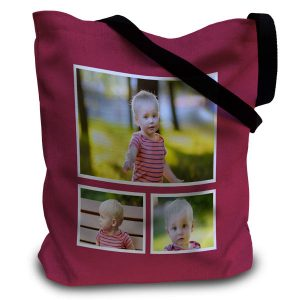 Create your own photo personalized designer tote bag for everyday use