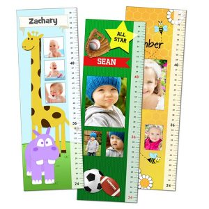 Create a custom growth chart for your child with photos and their own name printed to it, many design options to choose from