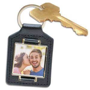 Create a beautiful gift that can be used for years with a photo personalized leather keychain