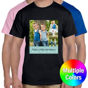 Crate a shirt for dad or for yourself with RitzPix personalized t-shirts