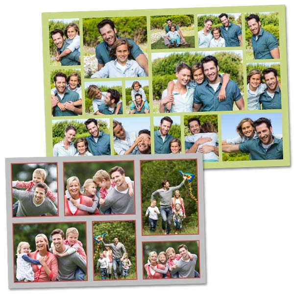 Create a custom photo print full of photos of your family and friends