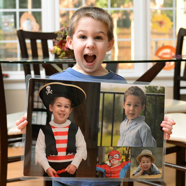 Create a photo personalized collage place mat for your kids, perfect for protecting your table from messes