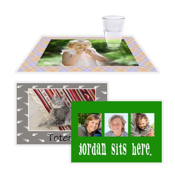 Add character and color to your dining décor with our personalized place mats.