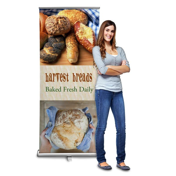 Create an easy to set up and take down banner for your business or brand with Print Shop Lab Roll Up banner