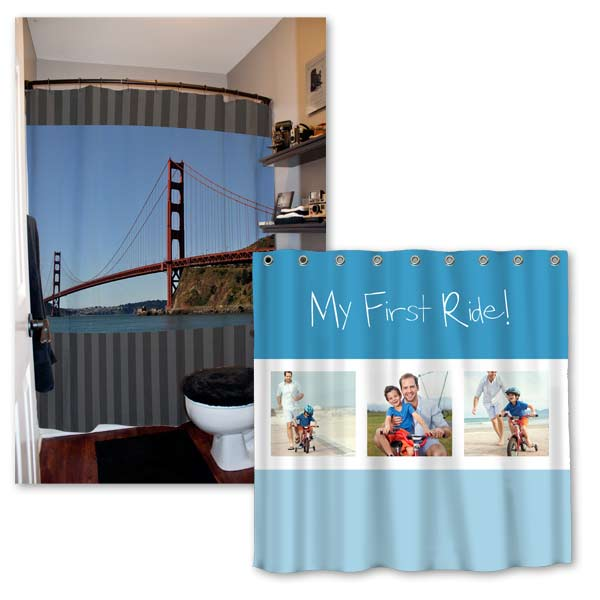 Various Photo Personalized Shower Curtains For Your Home