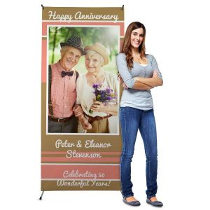 Create a party banner for any occasion with self standing cross back banners