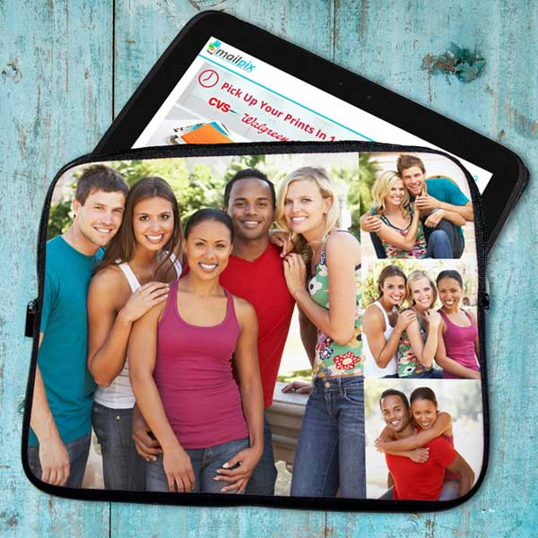 Single photo or photo collage options are available for your to create your own laptop or tablet case