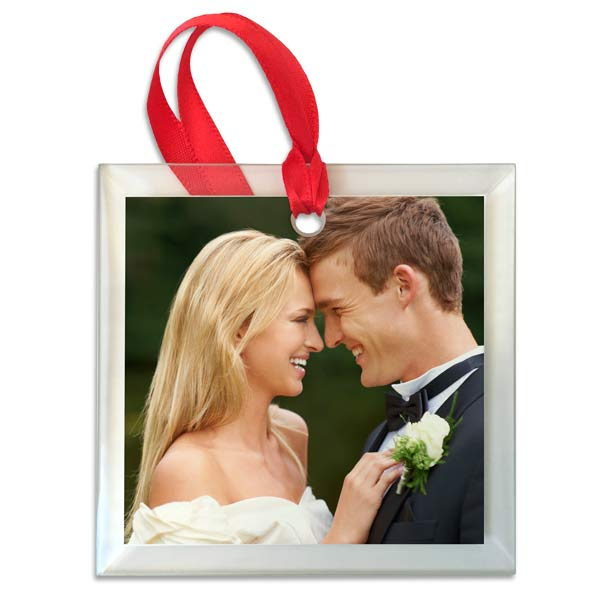 Create your own photo ornament to commemorate an event or special occasion with glass photo ornaments by Print Shop Lab