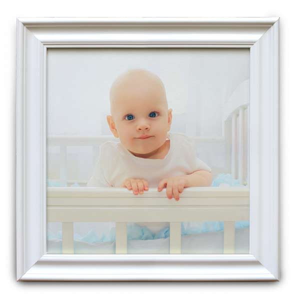 Display your favorite photo in elegance with our white wood framed canvas prints.