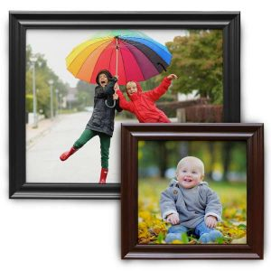 Create a classic framed canvas print with traditional wood frame with the Print Shop