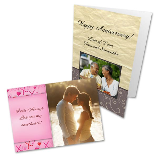 Create your own personalized anniversary card to give to your someone special